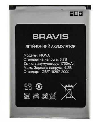 Аккумулятор литий-ионный батарея Bravis nova  3.7В, фото 2