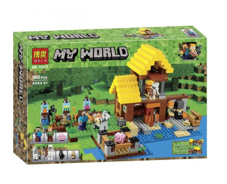 Конструктор Bela 10813 Майнкрафт Фермерский коттедж (аналог Lego Minecraft 21144)