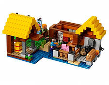 Конструктор Bela 10813 Майнкрафт Фермерский коттедж (аналог Lego Minecraft 21144), фото 3