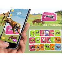Развивающая интерактивная игра для детей - Обучающие карточки виртуальной реальности AR CARD FANCY ZOO