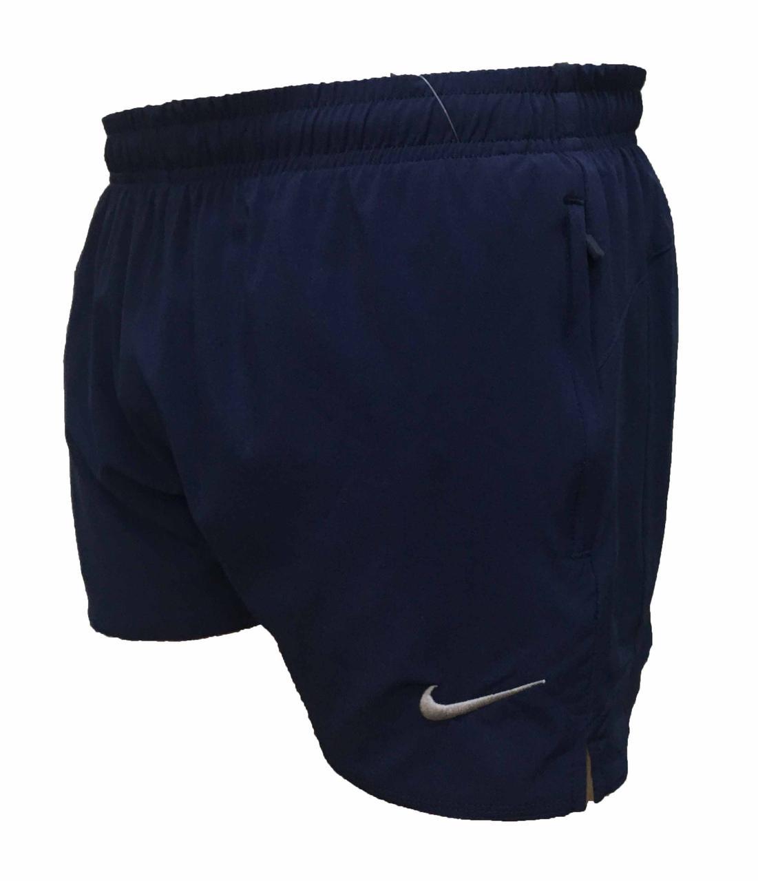 Мужские короткие синие шорты плащевка стрейч 48 размер (Реплика)