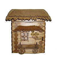 Ключница деревянная Хата малая