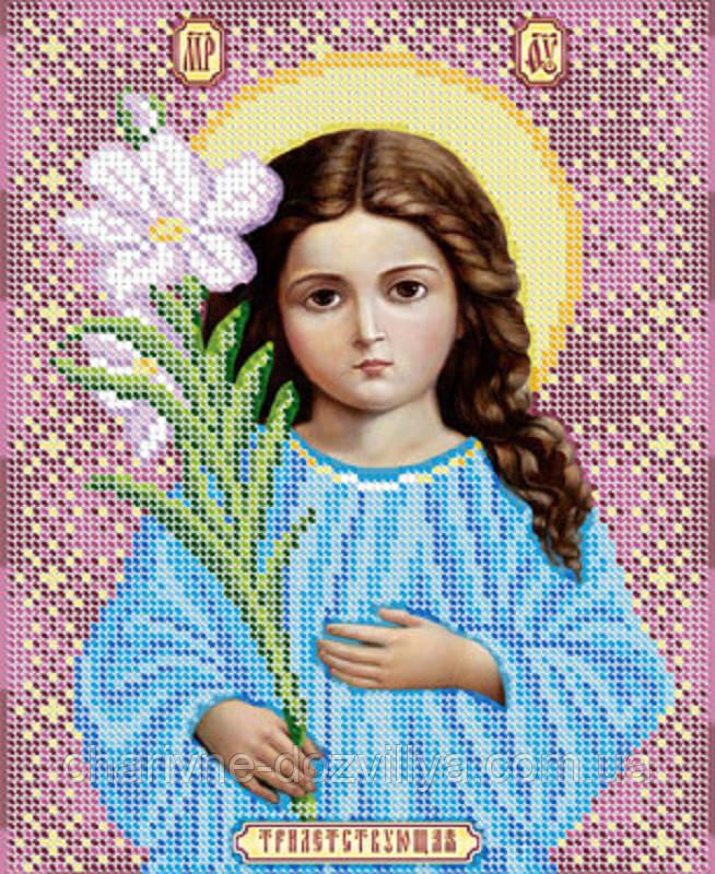 """Схема для вышивки бисером икона """"Богородица Трилетствующая"""""""