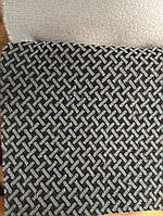 Автоткань для обшивки автосалонов ширина 180 см сублимация 032-бирюзово-серый