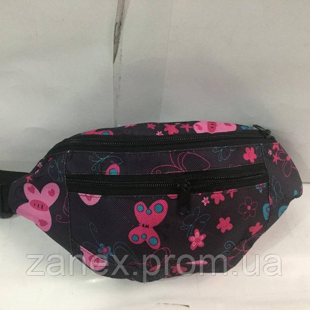 Бананка с принтом 2 отделения (Поясная сумка, Сумка на пояс, сумка на плечо) Zanex