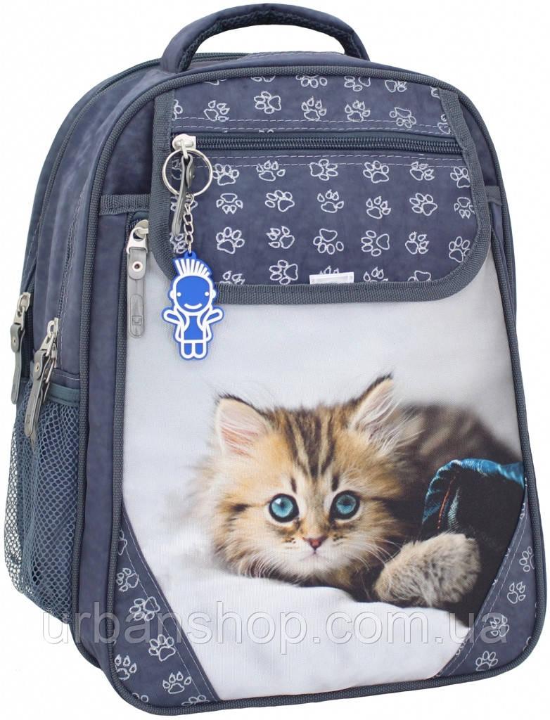 Украина Рюкзак школьный Bagland Отличник 20 л. Серый (котенок светлый) (0058070)
