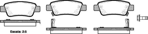 Remsa 1290.02 тормозные колодки (задние) HONDA CR-V III, HONDA CR-V IV