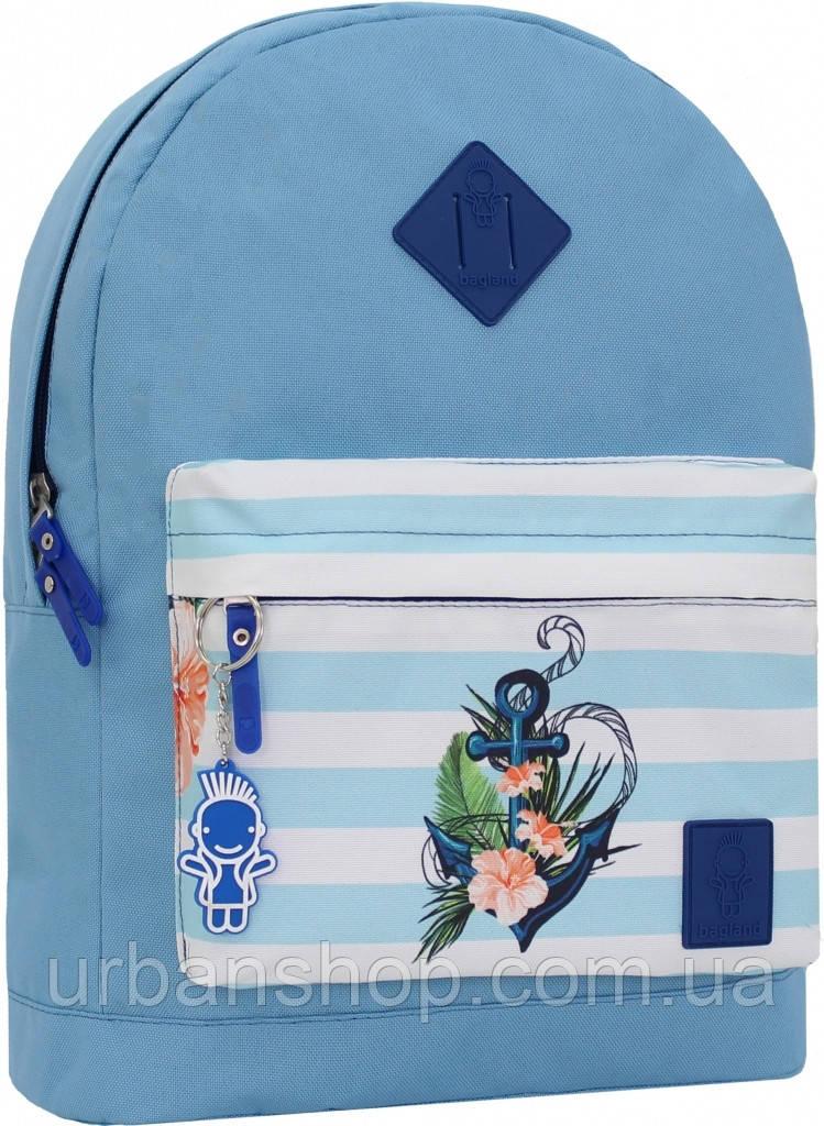 Украина Рюкзак Bagland Молодежный W/R 17 л. 190 блакитний 139 (00533662)