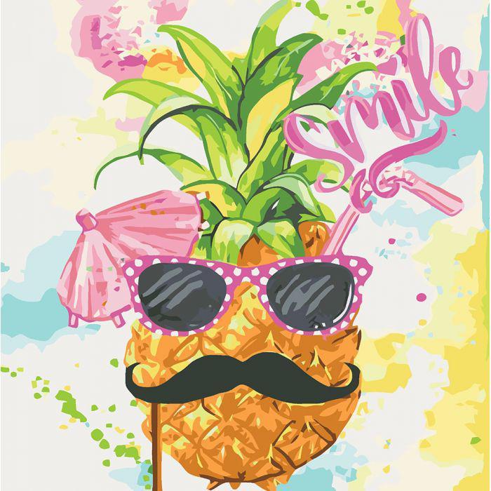 Картина по номерам Smile, 40x40 см., Идейка