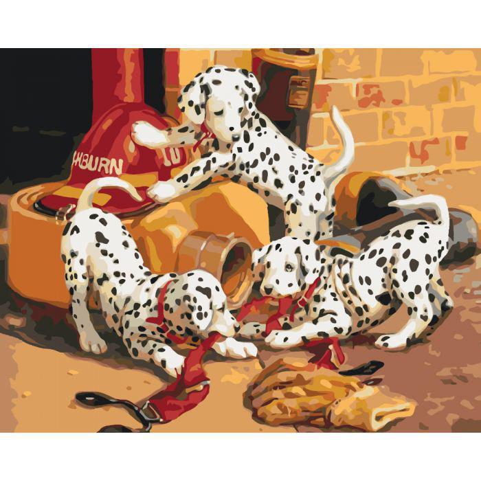 Картина по номерам Озорные далматинцы 2 , 40x50 см., Идейка