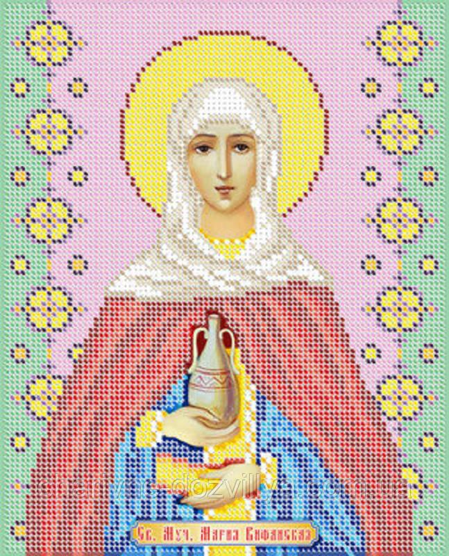"""Схема для вышивки бисером именная икона """"Святая Мария Вифанская"""""""