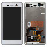 Дисплей (экран) для Sony E5603 Xperia M5 с сенсором (тачскрином) и рамкой белый