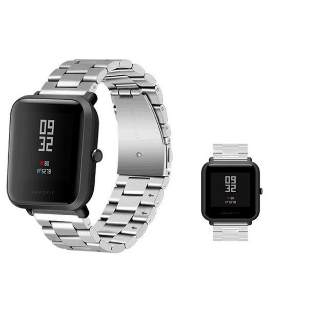 Металлический ремешок для часов Xiaomi Huami Amazfit Bip