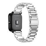Металлический ремешок Primo для часов Xiaomi Amazfit Bip/Amazfit Bip GTS/Amazfit Bip Lite - Silver, фото 2