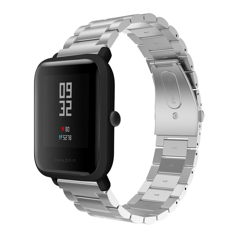 Металлический ремешок Primo для часов Xiaomi Amazfit Bip/Amazfit Bip GTS/Amazfit Bip Lite - Silver