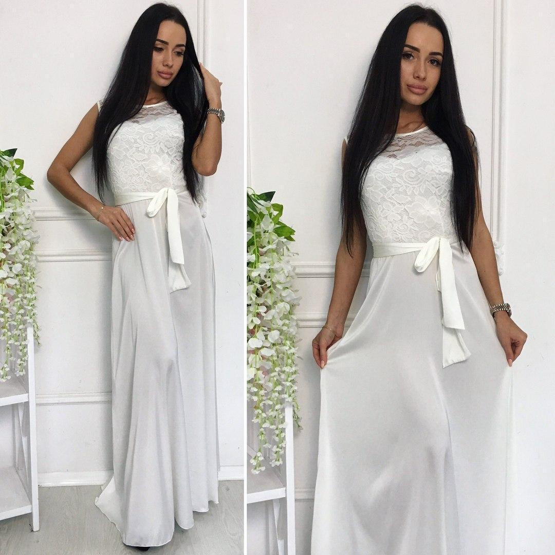 82a36419b3fb Вечернее шикарное длинное платье в пол белое  продажа, цена в Одессе ...