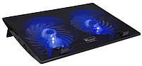 """Подставка под ноутбук DCX-006 9-17"""", 2x150mm LED 800±10% RPM, корпус пластик, 2xUSB 2.0"""