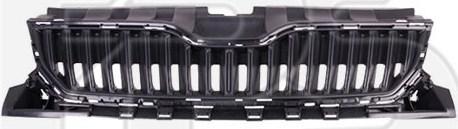 Решетка радиатора Skoda Fabia 2014- черная, без молдинга (FPS) 6V0853653