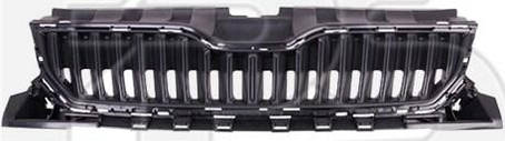 Решетка радиатора Skoda Fabia 2014- черная, без молдинга (FPS) 6V0853653, фото 2
