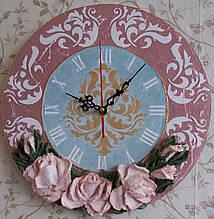 Часы Пастельные розы
