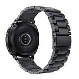 Металевий ремінець Primo для годин Samsung Sport Gear (SM-R600) - Black, фото 2
