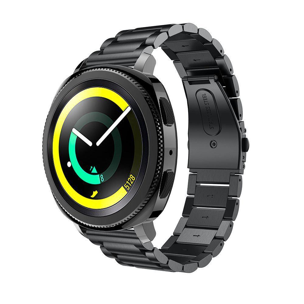 Металевий ремінець Primo для годин Samsung Sport Gear (SM-R600) - Black