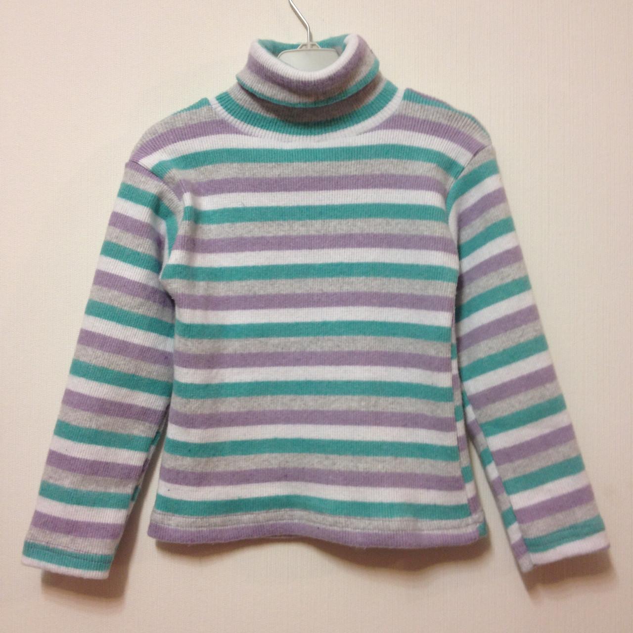 Детская одежда оптом Детский Гольф рубчик теплый оптом р.104-122 - Детская  одежда 3c5ef8d4f4e