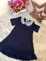 Платье школьное для девочек 6-12 лет