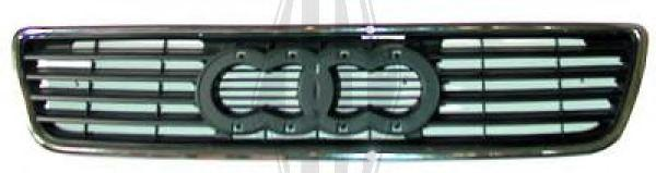 Решетка радиатора Audi 100 C4 (90-94) с хром молдингом (FPS) 4A08536513FZ
