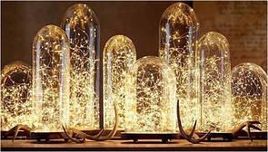 Светодиодные гирлянды на проволке