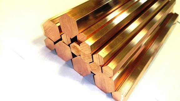 Шестигранник латунный 14 мм мягкий и твердый латунь шестигранники ЛС-5