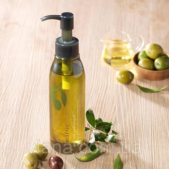 Гидрофильное масло для глубокого очищения кожи и снятия макияжа Innisfree Olive Real Cleansing Oil
