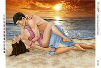 """Схема для вышивки бисером  """"Любовь у моря (част. выш.)""""     размер: 42*30 см"""