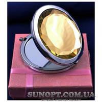 Карманное зеркальце №6960-5 (Желтое)