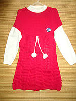 Вязаное платье + кофточка