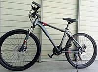 Спортивный велосипед TopRider-G35 26 дюймов. Дисковые тормоза. Серо-Красный., фото 1