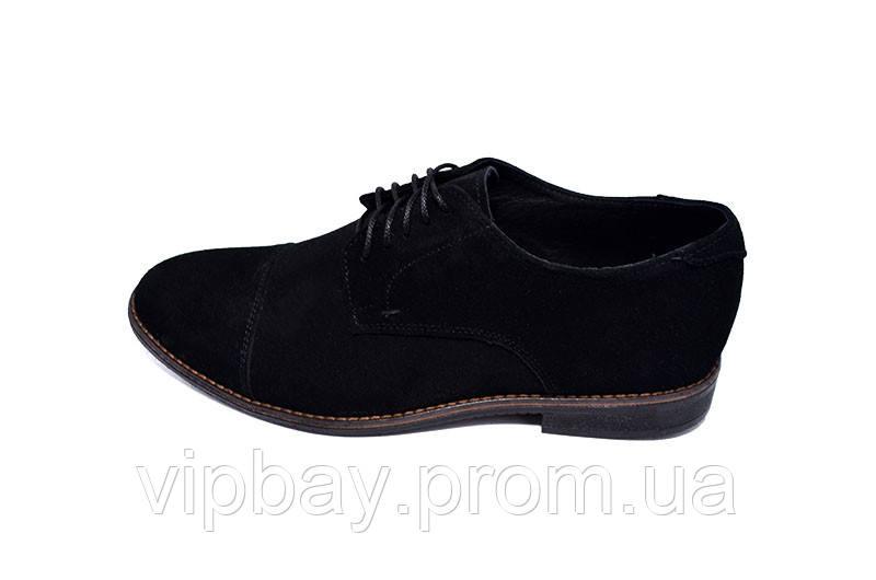 Туфли замшевые VanKristi QJ968 Black