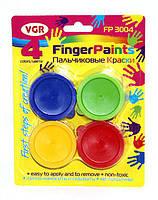 Краски пальчиковые 4 цв 30 мл VGR, FP3004