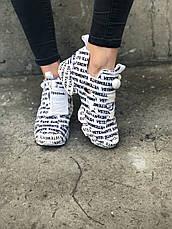 Женские кроссовки в стиле Reebok Insta Pump Fury x Vetements White , фото 2