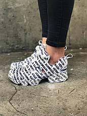 Женские кроссовки в стиле Reebok Insta Pump Fury x Vetements White , фото 3