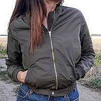 Женская куртка Levure зеленая хаки (размеры в описании)
