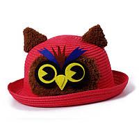 Шляпка сова детская фетровая