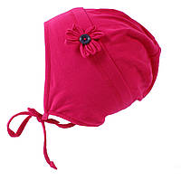 Демисезонная трикотажная шапочка для девочек 3-9 лет (Р.: 3/5, 6/8) ТМ Peluche&Tartine Малиновый S18 TU 64 EF, фото 1