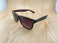 Солнцезащитные очки Ray Ban Wayfarer с коричневым верхом