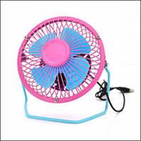 Вентилятор USB 155mm, Blue-Pink, регулировка наклона, корпус+лопасти-металл, BOX