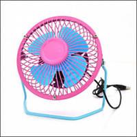 Вентилятор USB 155mm, Blue-Pink, регулювання нахилу, корпус+лопаті-метал, BOX