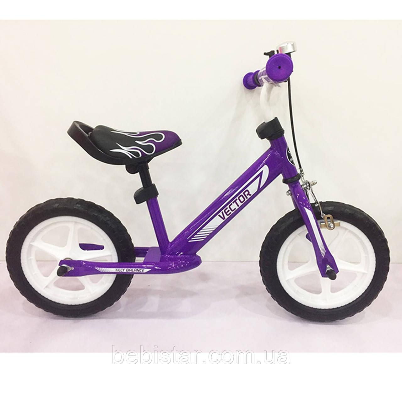"Беговел  BALANCE TILLY 12"" Vector T-21256 Purple  для деток 2-5 лет"