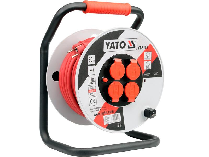 Подовжувач на котушці 30 метрів Yato YT-8106
