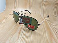Солнцезащитные очки Ray Ban AVIATOR капельки черные (стеклянные линзы)