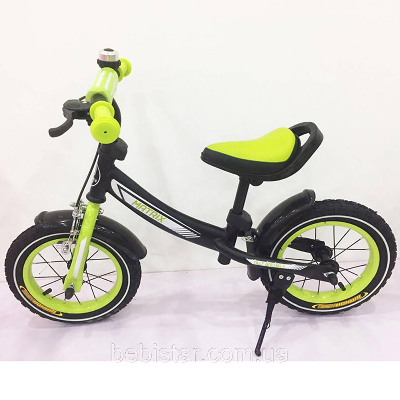 """Беговел BALANCE TILLY 12"""" Matrix T-21259 Green для дітей 2-5 років"""